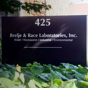 Brelje & Labs Sign Outside of Building
