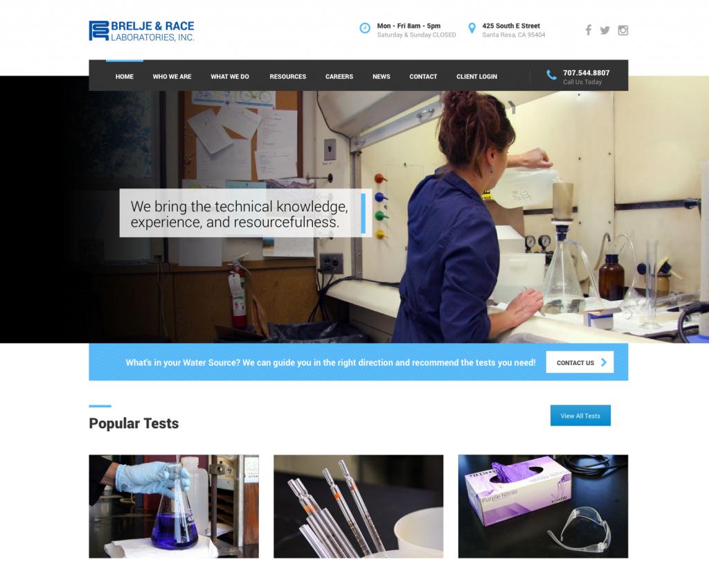 Brelje & Race water testing lab in California